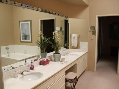 Master bath with double sink and bidet