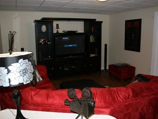 Shuswap Lake townhome photo - downstairs media room, with flat screen tv and lots of dvds.