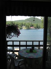 View from Living Room to Balcony - Bolton Landing house vacation rental photo