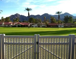 Palm Desert house photo - Back patio is on the fairway with Santa Rosa mountain views.