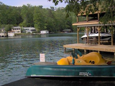 Paddle boat and canoe for exploring the shores of Lake Lure