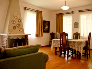 Living and dining room of Villa #3