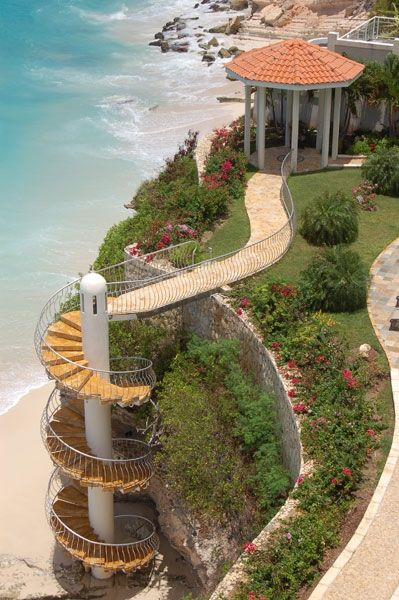 Private stairway to Our Develpment Private Beach!!