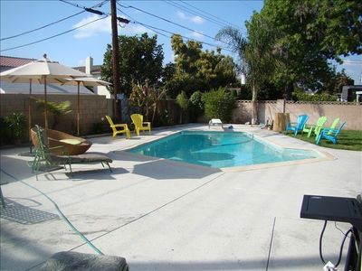 Great Spacious Backyard with BBQ and Bar Area