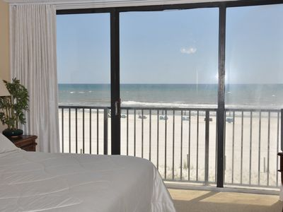 View of the beach and gulf from the guest bedroom.