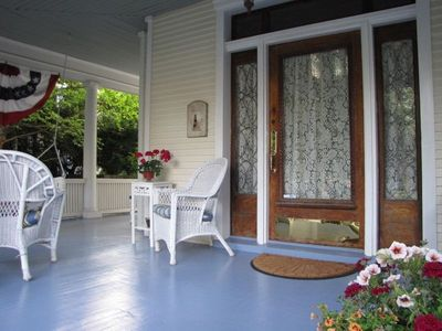 Start or end your day relaxing on the open front porch