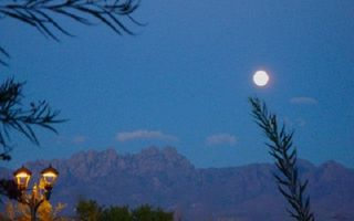 Las Cruces condo photo - Full moon from our front yard