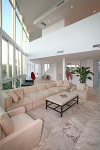Miami Beach townhome rental - 2 Story Living Room