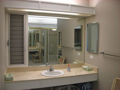 Sink and Vanity with Mirror