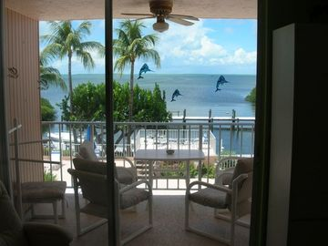 Bay View From Living Room through sliding glass door