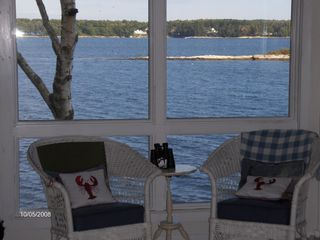 Westport Island cottage photo - Facing east on Sheepscot River
