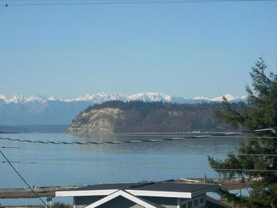 The view of Useless Bay, Double Bluff and the Olympic Mountains