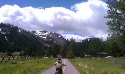 Olympic Valley condo rental - Enjoy a bike ride, run, or walk around the Valley's paved path.