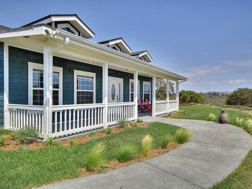 Lompoc house rental - Front Entrance - Porch with views of the rolling hillside.