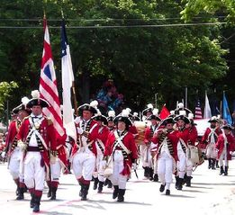 Warwick cottage photo - Pawtuxet Rangers at Gaspee Days Parade held on the 2nd Sat. in June.
