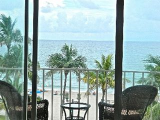 Deerfield Beach condo photo - fabulous views from the kitchen/living area w/wicker swivel/rocking chairs