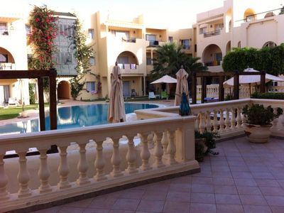 Apartment with pool and private beach max 6 persons Tunisian Coast Carthage Land