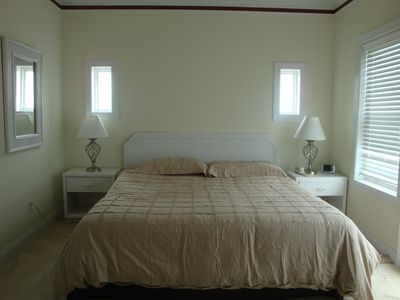 Kure Beach condo rental - Master Bedroom with Ocean views!