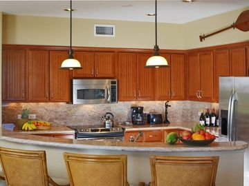 Fully equipped kitchen including wine cooler