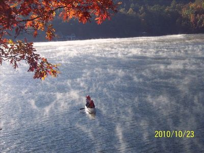 Canoeing Through the Mist on a Stunning Fall Morning