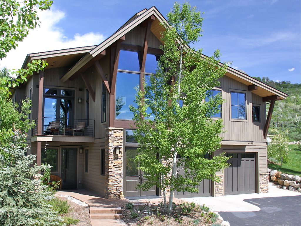 Steamboat springs holiday house new spacious modern timber frame home - Alpine vacation houses ...