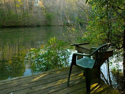 Blue Ridge cabin rental - Fishing dock