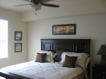 Master BR w/King Size bed and master bath has large walk-in shower