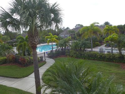 Beautiful Large Gated Quiet Pool Area Directly Across From the Condo