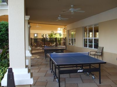 Patio Ping Pong table
