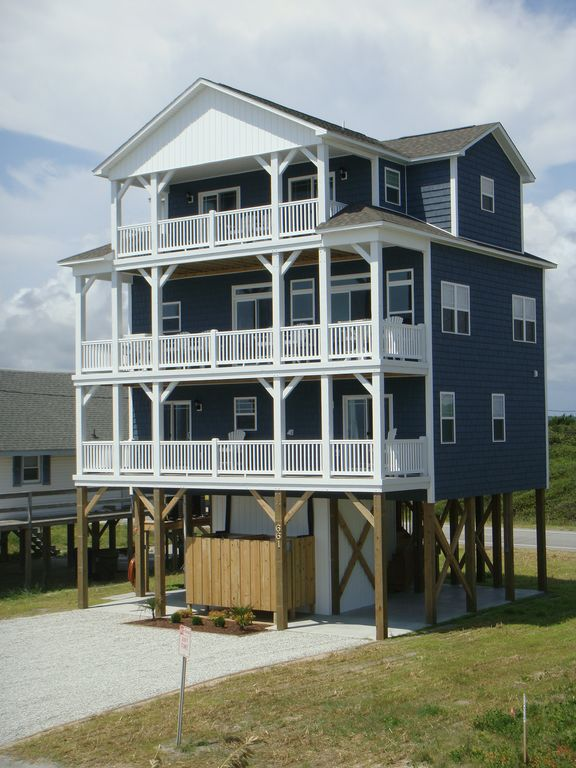 Wow 5 bedroom beach home with elevator and vrbo for Beach house elevator