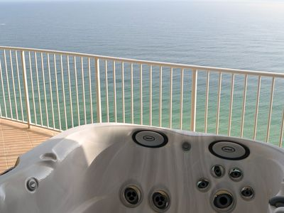 Orange Beach condo rental - Hot tub overlooking the Gulf