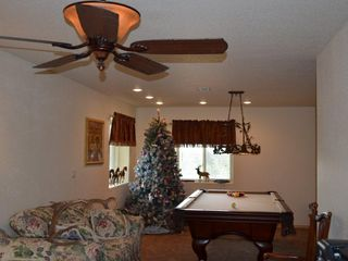 Florissant cabin photo - Lower level family room with pool table