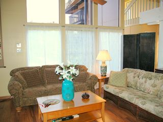 Princeville condo photo - Main floor great room with cool clean wood floors