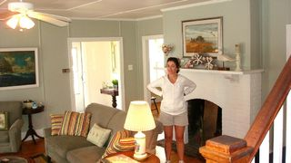 Beach Haven house photo - Living Room with Manager Bonnie