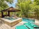 Plenty of space to lounge out and enjoy the private pool and hot tub