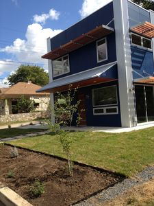 New, custom modern home with two rooftop decks; luxury bed