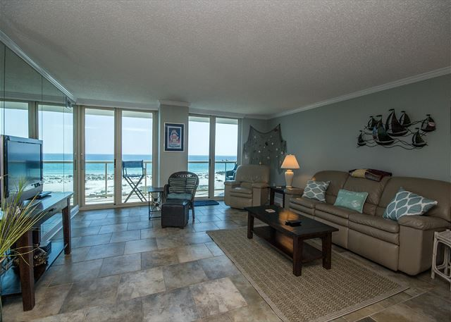 Beautiful Beach Views from this condo in Pensacola Beach ~ Community Pool~ Steps to the Beach!