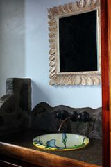 Playa Hermosa house photo - Master bathroom with hand painted sink