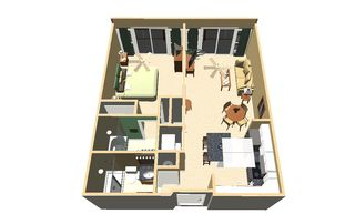 Kihei condo photo - rendering of floorplan, to help you get your bearings