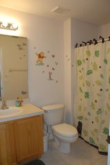Encantada Resort townhome photo - Winnie the Pooh & Friends hall bathroom, step stool for little ones