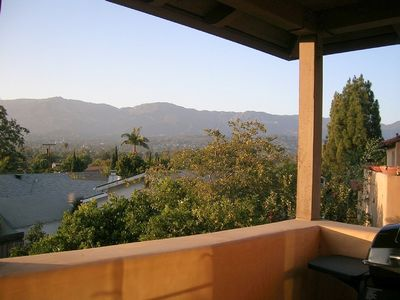 The wonderful view from the Casita guest studio