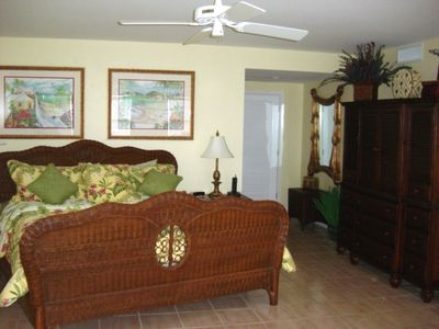 Key West condo rental - Master bedroom with TV armoire.