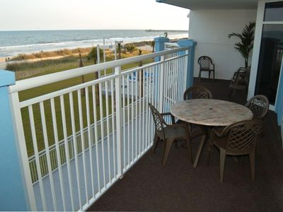 Massive 300 Square foot Ocean Front Balcony
