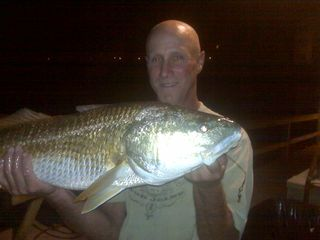 Navarre Beach condo photo - 40 LB Red Fish Caught Off Our Private Fishing Pier.