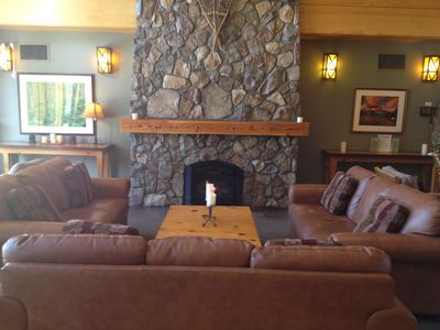A look at the front Hearth Room...A great place to sit and relax.