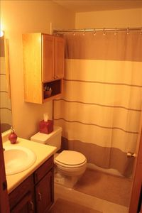 The main bathroom is convenient to share, and is spotless for your comfort.