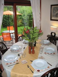 Dining room, overlooking the patio and garden