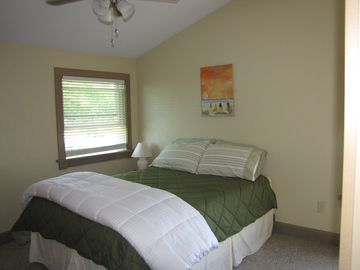 2nd floor bedroom with comfy queen bed