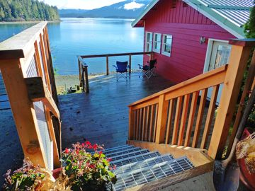 Juneau house rental - Front Deck on the cottage