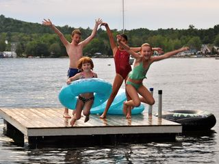 Center Harbor cottage photo - Kids love the water! Winni is still classified as pristine water.
